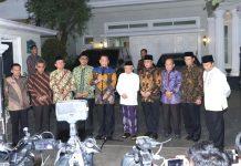 Bambang Soesatyo bersama Pimpinan MPR dan Wapres Terpilih KH Ma'ruf Amin Saat Jumpa Pers