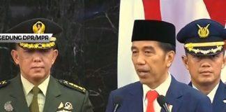 Jokowi Saat Pidato Perdana