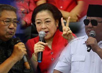 SBY, Megawati dan Prabowo