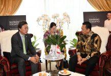 Bambang Soesatyo bersama Duta Besar Korea Selatan untuk Indonesia, H.E. Mr. Kim Chang-beom