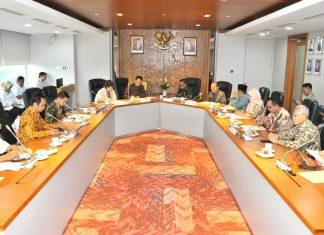 Bambang Soesatyo menerima kunjungan pimpinan Komisi Yudisial
