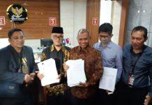 Tiga Pimpinan KPK Usai Mengajukan Gugatan ke MK