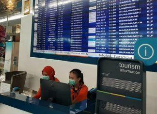 Petugas Terminal 3 Bandara Soetta Perketat Pengamanan Antisipasi Virus Corona