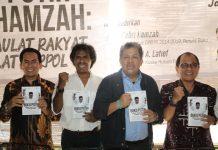 Fahri Hamzah bersama Akbar Faizal, Mujahid A Latief dan Margarito Kamis dalam peluncuran Buku Putih