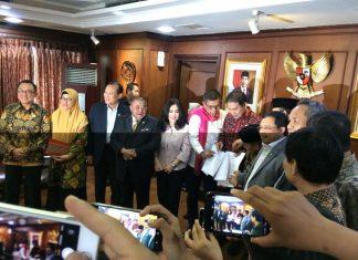 Wakil Ketua DPR Aziz Syamsuddin menerima audensi PKS dan Demokrat
