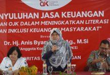 Anis Byarwati bersama OJK Sosialisasikan Literasi Keuangan Masyarakat