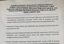 Kesimpulan Rapat Komisi II, Pemerintah dan KPU soal Penundaan Pilakada Serentak 2020
