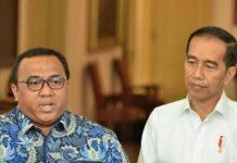 Presiden KSPSI Andi Gani Nena Wea bersama Jokowi di Istana Negara