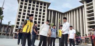 Jokowi Tinjau Proyek Pembangunan Istiqlal
