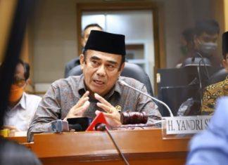 Jumpa Pers Menteri Agama Fachrul Razi bersama Komisi VIII DPR
