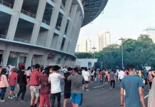 Warga Jakarta Olahraga di GBK saat New Normal