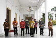 Bamsoet bersama 8 Pimpinan MPR Jumpa Pers di Istana Bogor
