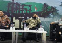 Fadli Zon bersama Nono Sampono dan Abdul Kadir Karding dalam Diskusi Dialetika Demokrasi