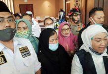 Ida Fauziyah bersama Jaziul Fawaid dan PMI Etty Binti Toyib di Ruangan VIP Bandara Soekarno Hatta
