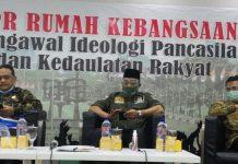 Rahmad Handoyo bersama Jaziul Fawaid dan Benny Ramdhani dalam diskusi Empat Pilar MPR