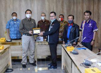Azis Syamsudin menerima audensi Serikat Pekerja Nasional terkait RUU Cipta Kerja