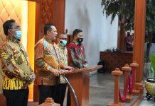 Bambang Soesatyo bersama Jaziul Fawaid dan Sekjen MPR dan Ketua KY Jumpa Pers