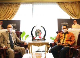 Bambang Soesatyo bersama H.E. Mr. Benedetto Latteri