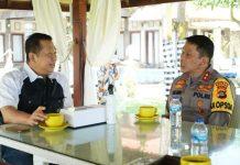 Bambang Soesatyo bersama Irjen Pol Putu Jayan Danu Putra Membahas Pengamanan Natal dan Tahun Baru di Bali