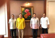 Bambang Soesatyo bersama Tommy Soeharto