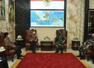 Jenderal Marsekal Hadi Tjahjanto Menerima Kunjungan Menkes Budi Gunadi Sadikin