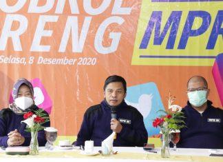 Ma'ruf Cahyono bersama Siti Fauziah dan Budi Muliawan dalam acara sosialisasi empat Pilar MPR