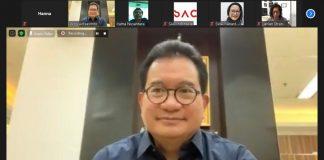 Prof.Drh. Wiku Bakti Bawono Adisasmito Ikut dalam webinar Donasi Piring Hitam Lawan Covid-19