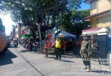 Satpol PP Kelurahan Kartini Menggelar Operasi Masker