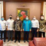 Bambang Soesatyo Bersama Pengurus IMI Pusat Bertemu Tommy Soeharto