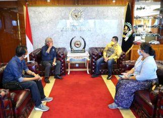 Bambang Soesatyo Menerima Ketua IWO Jodhi Yudono