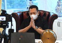 Bambang Soesatyo Mengikuti HUT PDIP ke-48 Secara Virtual