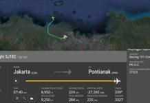Pesawat Sriwijaya Air SJ182SJY 182 rute Jakarta Pontianak hilang kontak