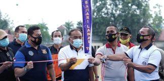 Sekdakot Tanjung Balai Yusmada Resmikan SSB Bahari