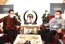 Bambang Soesatyo bersama Duta Besar Jepang untuk Indonesia, H.E. Mr. Kanasugi Kenji