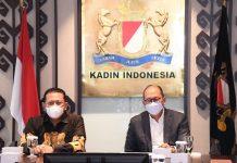 Bambang Soesatyo bersama Ketua Umum KADIN Rosan Rosaline