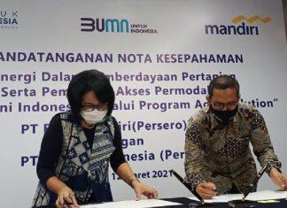 Bank Mandiri dan Pupu Indonesia Jalin MoU Bantu Permodalan Petani