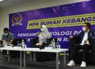 Kurniasih Mufidayati dan Syaiful Huda dalam diskusi Empat Pilar MPR