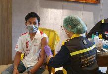 Pembalap Nasional Menerima Vaksin