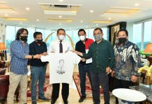 Bambang Soesatyo Menerima Crew Film Ali Sadikin The Movie