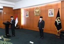 Bambang Soesatyo Saat Berpidato Disela Pelantikan Anggota MPR