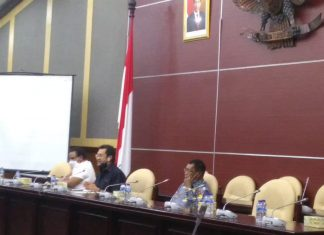 Ketua MPR for Papua, Yorrys Raweyai beraudensi dengan Sekda Provinsi Papua