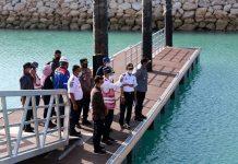 Menhub Cek Pelabuhan di Nusa Penida
