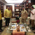 Airlangga Hartarto bersama Prabowo Subianto