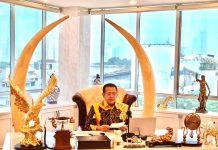 Bambang Soesatyo Saat Memimpin Rapim MPR membahas PPHN 2021