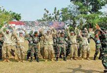 Latihan Militer TNI AD dan US Army